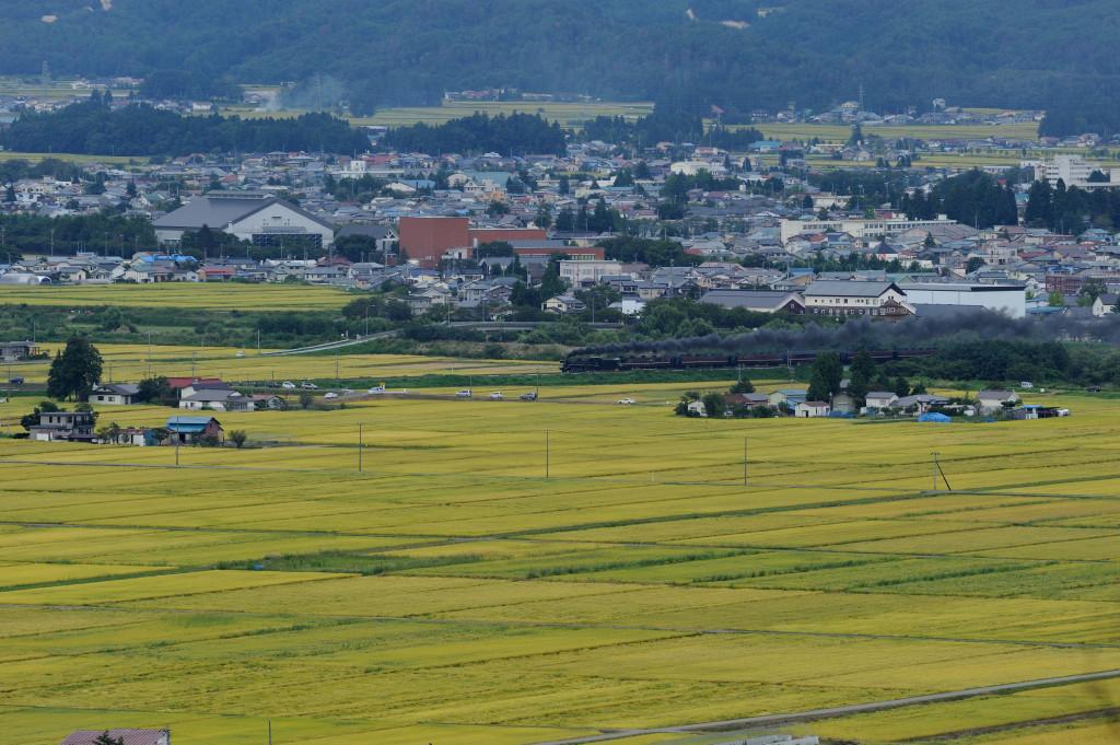 磐越西線 C57180 蛇崩山俯瞰