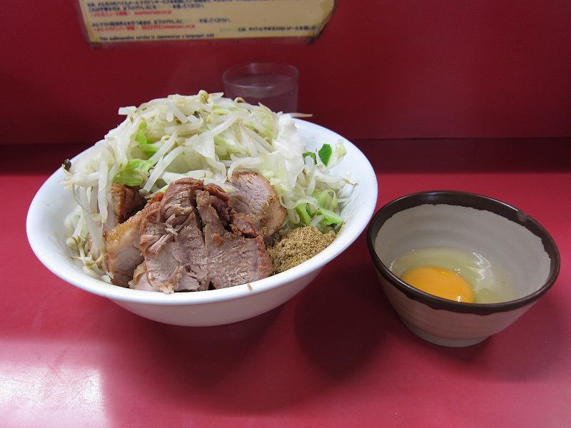汁なしラーメン 豚入り 生たまご ¥600 + ¥100(現金) + ¥50(現金)