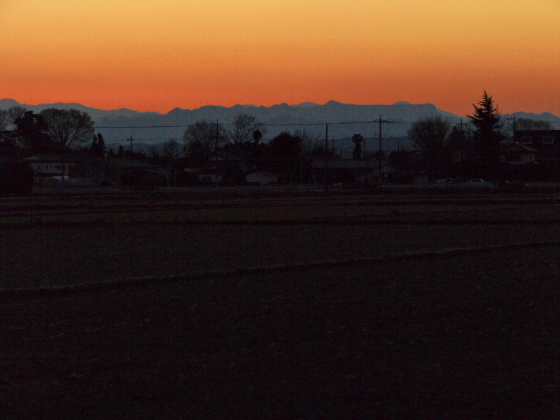 2011年の日没
