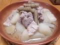 大根と豚肉の味噌炊き 20131220