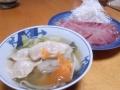 スープ餃子とお刺身 20131221
