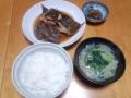 カレイの煮つけ定食 20131227