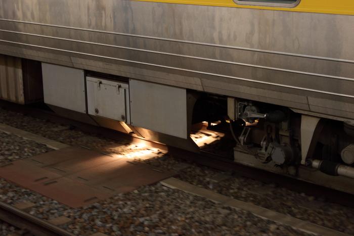 キクヤ141‐2の検測用台車の照明点灯状態