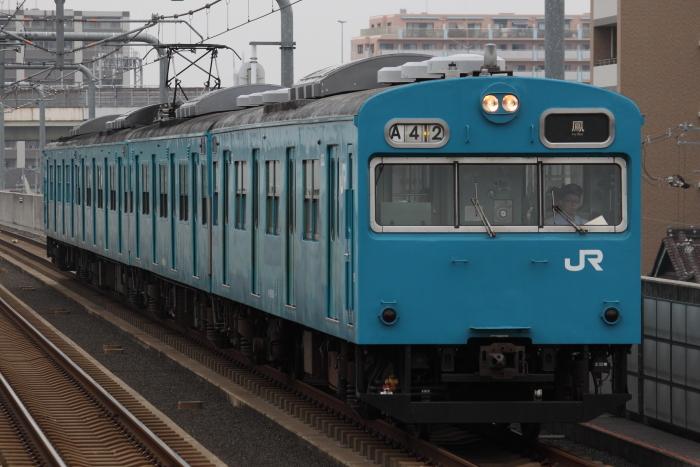 ヒネJ411編成(クハ103-610側)