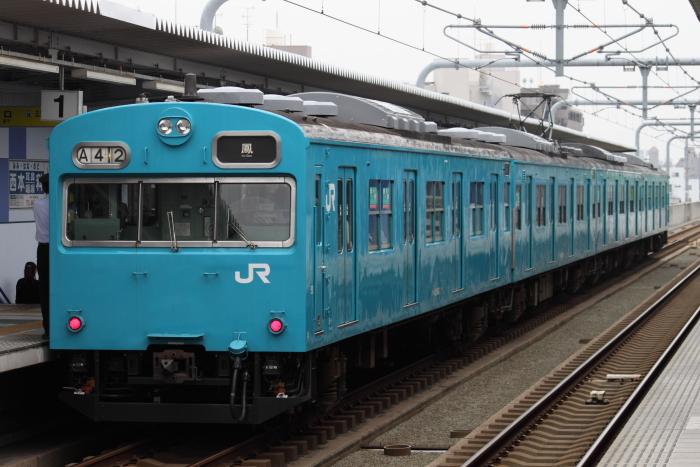 ヒネJ411編成(クハ103-63側)