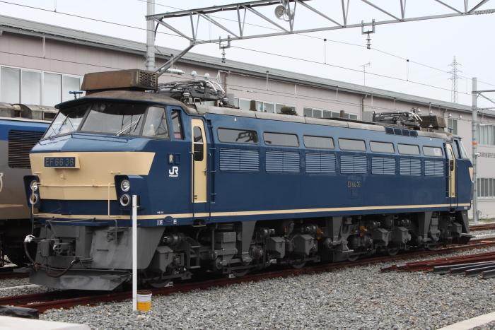 百済貨物ターミナル留置中のEF66-36(1エンド)