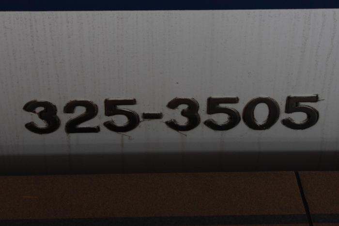 325-3505の側面車番