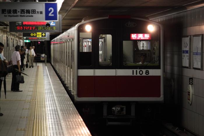 1108Fの試運転(四つ橋線なんば)