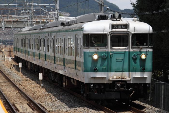 113系ヒネG402編成の試運転(島本)
