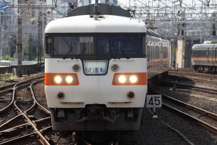 117系カキS3編成の名古屋止まりの新快速