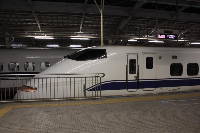 「回送990」と表示された乗車位置案内とF2編成