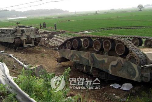 韓国軍の戦車、発砲するとひっくり返る戦車