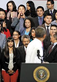 thumb24歳韓国系男性がオバマ大統領の演説を遮る