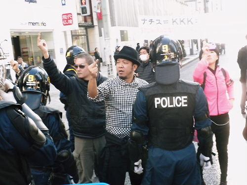 移民政策糾弾デモin銀座20131201アホなレイシストしばき隊
