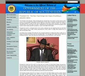 混乱が続く南スーダン。画像は同国政府の公式ウェブサイト、帽子をかぶっているのがキール大統領