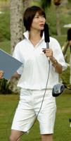 局アナとして名球会ゴルフをリポートしていたころの元気な川田さん(2004年12月16日