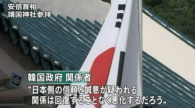 日本側の信頼と誠意が疑われる。関係は回復することなく悪化するだろう。