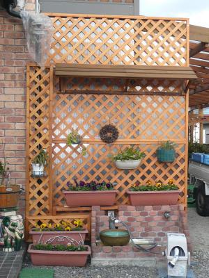 玄関前フェンス