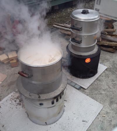 餅米蒸かし
