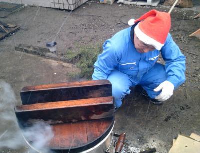30餅米蒸かし中1