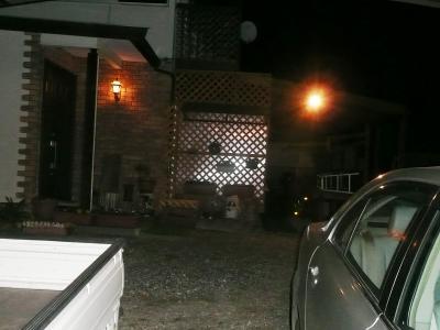 21夜玄関前