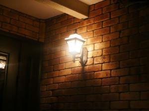 21夜玄関灯
