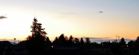 風景14_11_27 ベランダから夜明