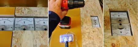DIY14_12_7 風力発電電圧計・負荷電流計