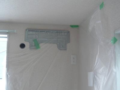 新築エアコン取り付け工事