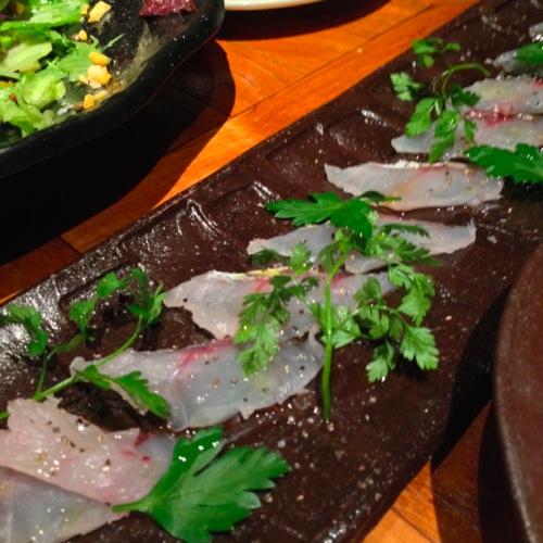 2鯛のカルパッチョ