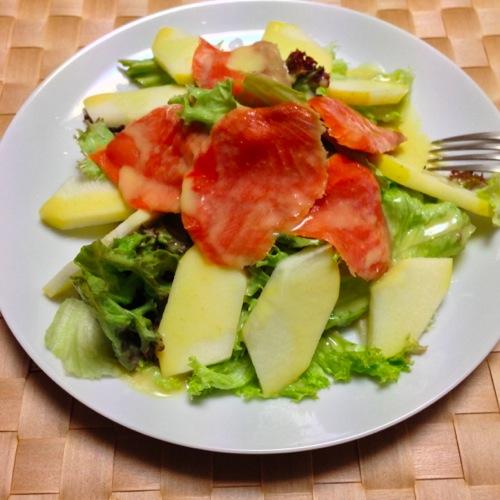 1りんごとレタスのサラダ