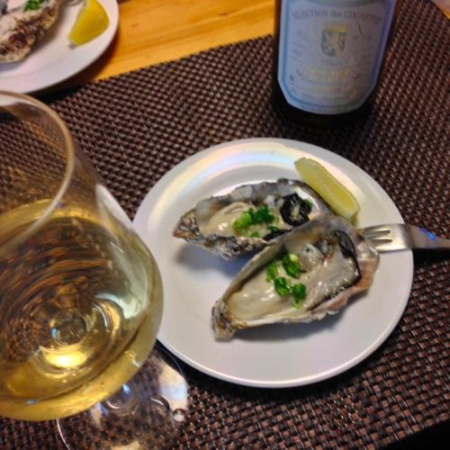 1牡蠣と白ワイン