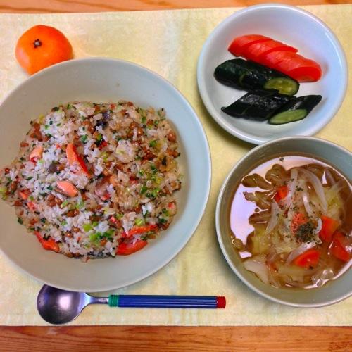 1鮭納豆チャーハン