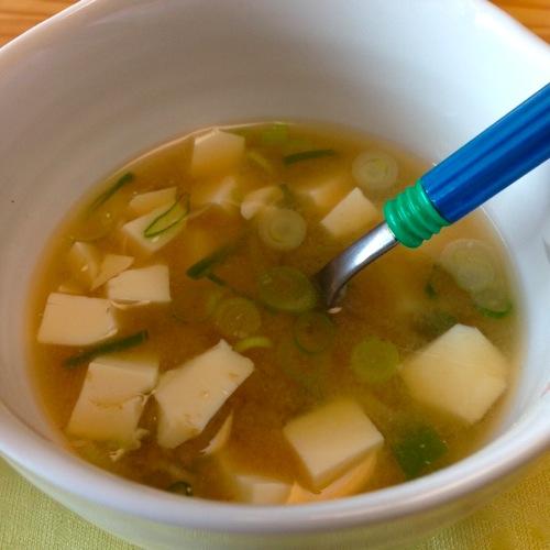 4豆腐の味噌汁