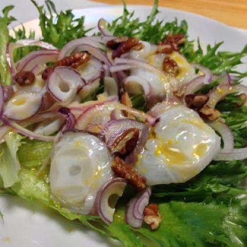 1ミズダコと葉野菜のサラダ