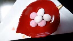 クリーム紅白豆