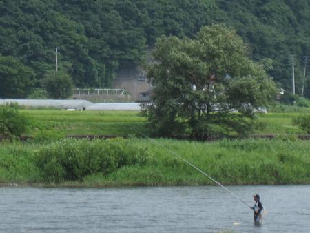 0822鮎釣り