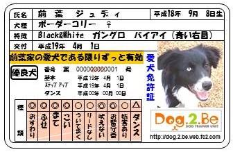 犬免許証JJ