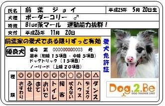 犬免許証JJ - コピー