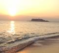 夕方の海。