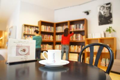 きだび図書館2014ブックカフェ風
