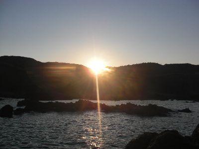 戸賀潜り岩周辺