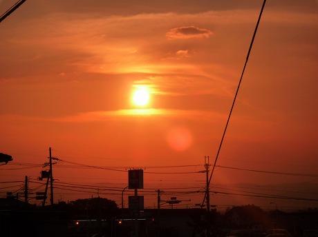 夕陽と月1