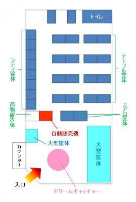 ハイテクセガ五稜郭店店内図
