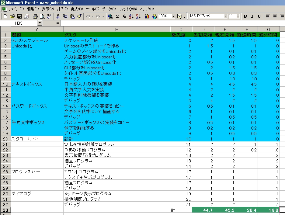 スケジュール:2010/10/23(Sat)