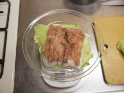鶏むね肉と白菜の重ね蒸し30