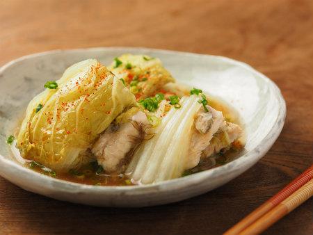 鶏むね肉と白菜の重ね蒸し11