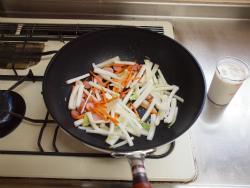 白菜ウインナークリームペンネ35