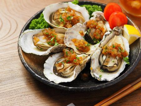蒸し牡蠣フルブラ柿ソース04