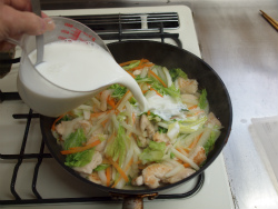 t白菜と鶏むね肉のクリーム18